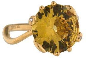 Christian Dior 18K Heliodor & Diamond Oui Ring