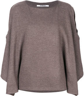Chalayan contrasting overlay sleeve blouse