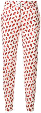 P.A.R.O.S.H. lips printed trousers