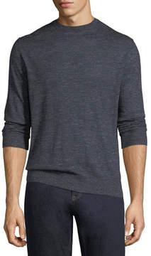 Ermenegildo Zegna Cashmere-Silk Heathered-Knit Crewneck Sweater