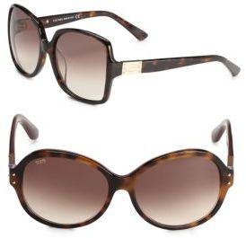 Tod's 60MM Tortoiseshell Round Sunglasses