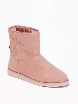 Old Navy Quilted Faux-Suede Short Adoraboots for Women