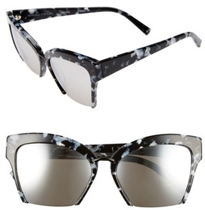 KENDALL + KYLIE Women's Brooke 55Mm Semi Rimless Butterfly Sunglasses - Black/ White Marble/ Black