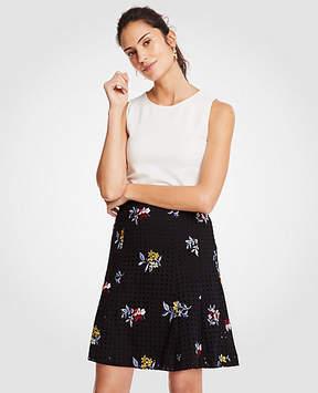 Ann Taylor Embroidered Floral Eyelet Full Skirt