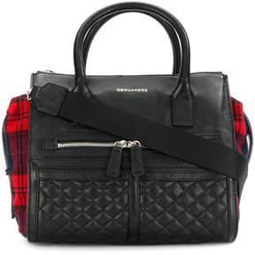 DSQUARED2 tartan detail shoulder bag