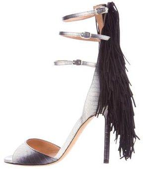 Alexa Wagner Aurinia Fringe-Accented Sandals