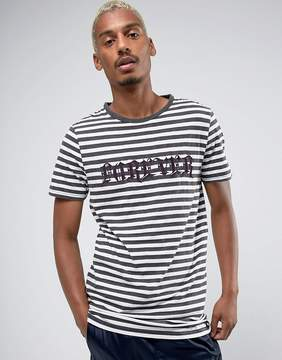 New Look Striped T-Shirt With Forever Print