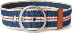 Ralph Lauren Striped Webbed Wide Belt