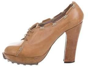 John Galliano Leather Round-Toe Booties