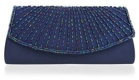 Nina Beaded Satin Clutch