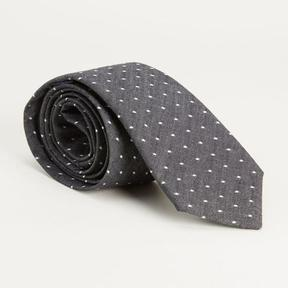Blade + Blue Charcoal Grey Chambray Polka Dot Tie