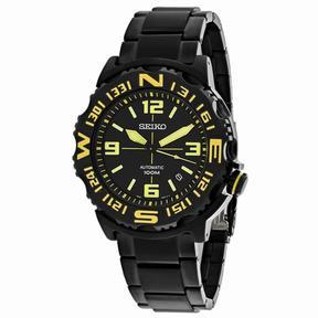 Seiko Superior SRP449K1 Men's Round Gunmetal Stainless Steel Watch
