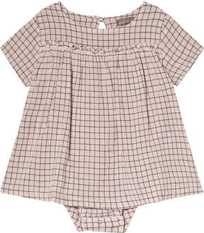Emile et Ida Cream Carreaux Tile Print Dress