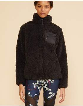 Cynthia Rowley | Fleece Jacket | L | Black