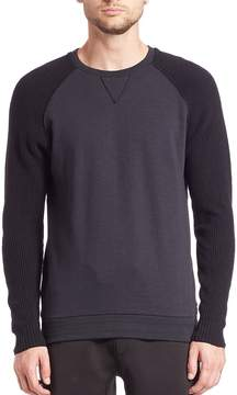 Madison Supply Men's Long Sleeve Knit Fleece Pullover
