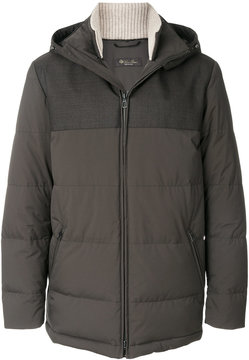 Loro Piana long sleeved down jacket