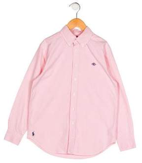 Polo Ralph Lauren Boys' Embroidered Button-Up Shirt