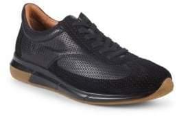 Aquatalia Zander Woven Leather Sneakers