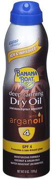 Banana Boat UltraMist Continuous Spray Sunscreen, Deep Tanning Dry Oil, SPF 4