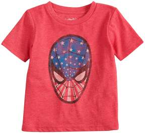 Spiderman Baby Boy Jumping Beans Marvel Patriotic Graphic Tee