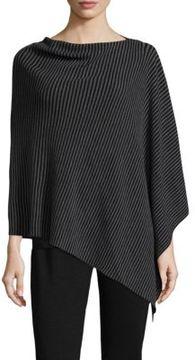 Eileen Fisher Stripe Wool Poncho