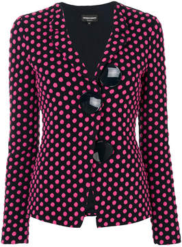 Emporio Armani polka dotted jacket with large buttons