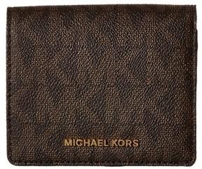 MICHAEL Michael Kors Jet Set Logo Card Holder - BROWN - STYLE
