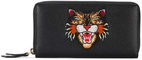 Gucci Angry Cat embroidered wallet