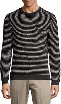 ATM Anthony Thomas Melillo Men's Broken-Striped Sweatshirt