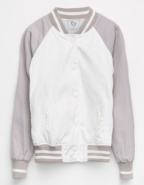 Full Tilt Varsity Girls Bomber Jacket