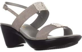 Callisto Minna Comfort Wedge Sandals, Gray.
