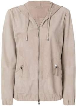 Eleventy hooded zipped jacket