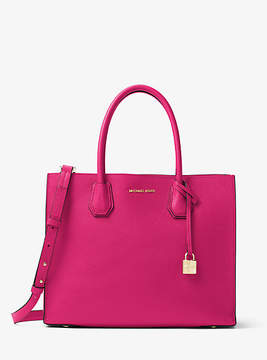 Michael Kors Mercer Large Leather Tote - PINK - STYLE
