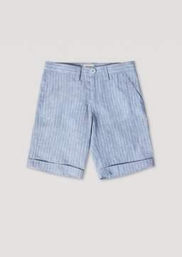 Armani Junior Linen Chambray Bermuda Shorts