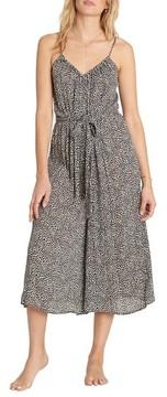 Billabong Women's Wild Hearts Tie Waist Midi Dress
