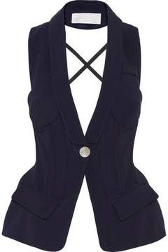 Antonio Berardi Open-Back Stretch-Cady Vest