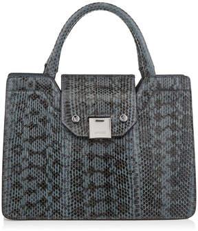 Jimmy Choo REBEL TOTE/S Dusk Blue Gloss Elaphe Tote Bag