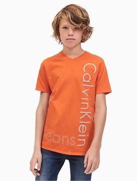 Calvin Klein Jeans Boys Side Logo V-Neck T-Shirt