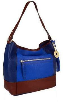 Isaac Mizrahi Live! Bridgehampton Color-block Leather Hobo