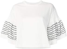 See by Chloe stitched-sleeve T-shirt