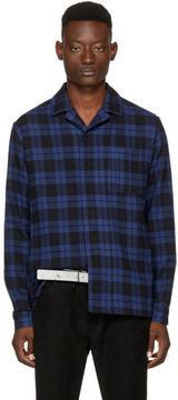 Haider Ackermann Blue and Black Plaid Shirt