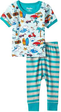 Hatley Surf Island Short Sleeve Mini Pajama Set Boy's Pajama Sets