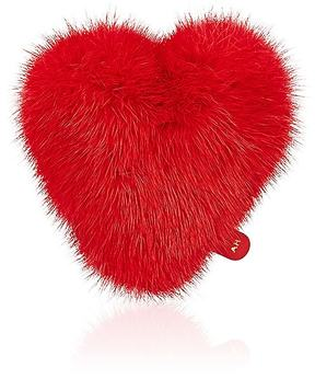 Anya Hindmarch WOMEN'S MINK FUR HEART STICKER
