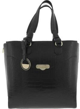 Versace Womens Leather Embossed Tote Handbag