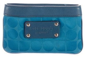 Kate Spade Leather-Trimmed Coin Pouch - BLUE - STYLE