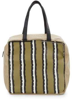 French Connection Striped Prim Lady Large Tote