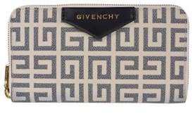 Givenchy Black Ivory Antigona Long Zip Around Wallet