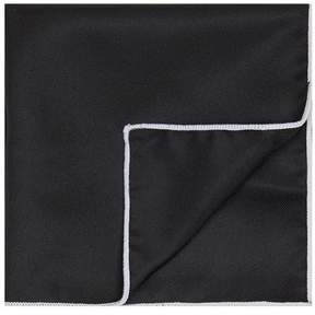 Topman Black Pocket Square