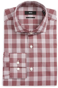BOSS Men's Jason Slim Fit Plaid Dress Shirt