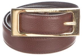 Bottega Veneta Leather Buckle Belt